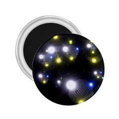 Abstract Dark Spheres Psy Trance 2 25  Magnets