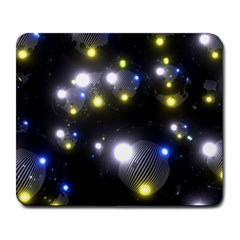 Abstract Dark Spheres Psy Trance Large Mousepads