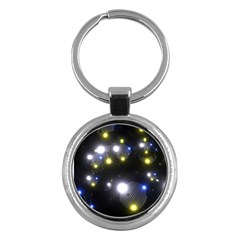 Abstract Dark Spheres Psy Trance Key Chains (round)