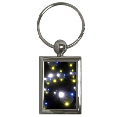 Abstract Dark Spheres Psy Trance Key Chains (Rectangle)