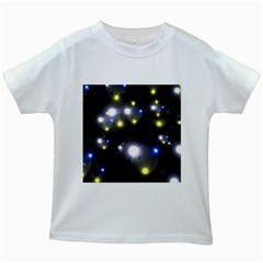 Abstract Dark Spheres Psy Trance Kids White T Shirts