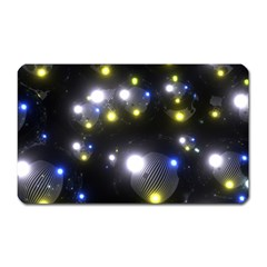 Abstract Dark Spheres Psy Trance Magnet (rectangular)