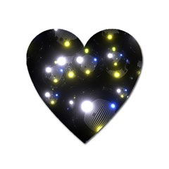 Abstract Dark Spheres Psy Trance Heart Magnet