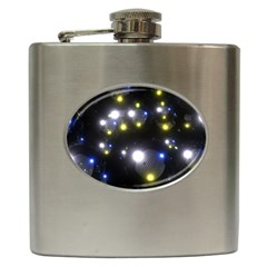 Abstract Dark Spheres Psy Trance Hip Flask (6 oz)