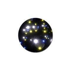 Abstract Dark Spheres Psy Trance Golf Ball Marker (10 Pack)