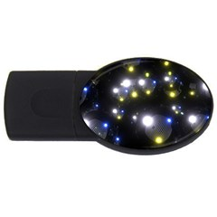 Abstract Dark Spheres Psy Trance USB Flash Drive Oval (1 GB)