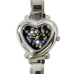 Abstract Dark Spheres Psy Trance Heart Italian Charm Watch