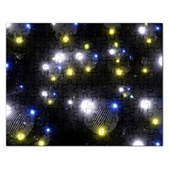 Abstract Dark Spheres Psy Trance Rectangular Jigsaw Puzzl