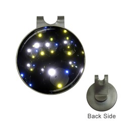 Abstract Dark Spheres Psy Trance Hat Clips With Golf Markers