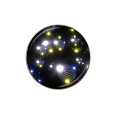 Abstract Dark Spheres Psy Trance Hat Clip Ball Marker