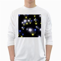 Abstract Dark Spheres Psy Trance White Long Sleeve T Shirts