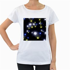 Abstract Dark Spheres Psy Trance Women s Loose Fit T Shirt (white)