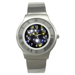 Abstract Dark Spheres Psy Trance Stainless Steel Watch