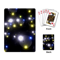 Abstract Dark Spheres Psy Trance Playing Card
