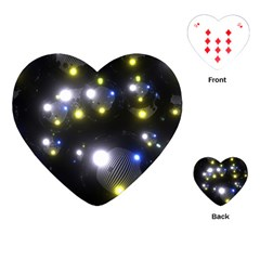 Abstract Dark Spheres Psy Trance Playing Cards (Heart)