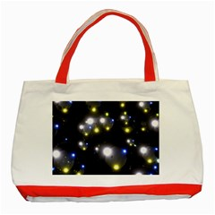 Abstract Dark Spheres Psy Trance Classic Tote Bag (red)