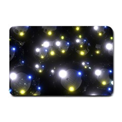 Abstract Dark Spheres Psy Trance Small Doormat