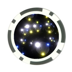 Abstract Dark Spheres Psy Trance Poker Chip Card Guard (10 Pack)