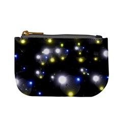Abstract Dark Spheres Psy Trance Mini Coin Purses