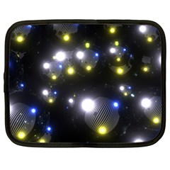 Abstract Dark Spheres Psy Trance Netbook Case (xl)