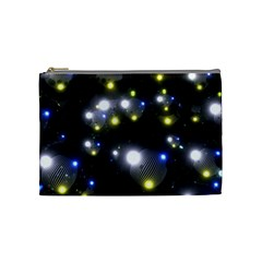 Abstract Dark Spheres Psy Trance Cosmetic Bag (Medium)