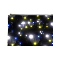 Abstract Dark Spheres Psy Trance Cosmetic Bag (large)