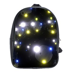 Abstract Dark Spheres Psy Trance School Bags(Large)