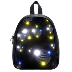 Abstract Dark Spheres Psy Trance School Bags (small)