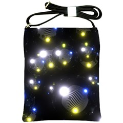 Abstract Dark Spheres Psy Trance Shoulder Sling Bags