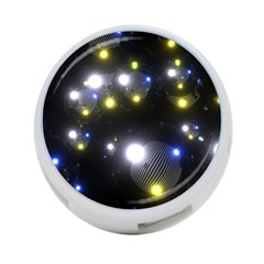 Abstract Dark Spheres Psy Trance 4 Port Usb Hub (one Side)