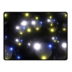 Abstract Dark Spheres Psy Trance Fleece Blanket (small)