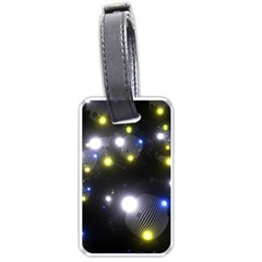 Abstract Dark Spheres Psy Trance Luggage Tags (two Sides)