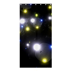 Abstract Dark Spheres Psy Trance Shower Curtain 36  X 72  (stall)