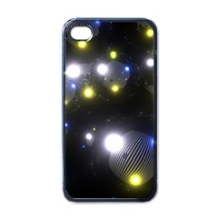 Abstract Dark Spheres Psy Trance Apple Iphone 4 Case (black)