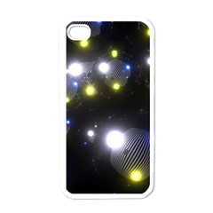 Abstract Dark Spheres Psy Trance Apple Iphone 4 Case (white)