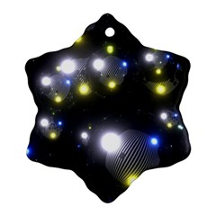 Abstract Dark Spheres Psy Trance Ornament (snowflake)