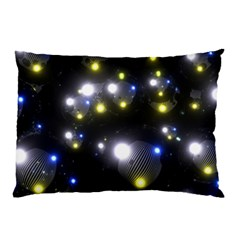Abstract Dark Spheres Psy Trance Pillow Case (two Sides)