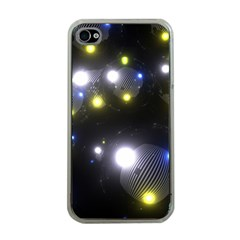 Abstract Dark Spheres Psy Trance Apple Iphone 4 Case (clear)
