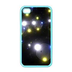 Abstract Dark Spheres Psy Trance Apple Iphone 4 Case (color)