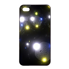 Abstract Dark Spheres Psy Trance Apple Iphone 4/4s Seamless Case (black)