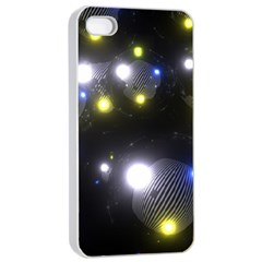 Abstract Dark Spheres Psy Trance Apple Iphone 4/4s Seamless Case (white)