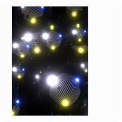 Abstract Dark Spheres Psy Trance Small Garden Flag (two Sides)