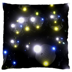 Abstract Dark Spheres Psy Trance Large Cushion Case (Two Sides)