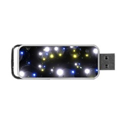 Abstract Dark Spheres Psy Trance Portable Usb Flash (two Sides)