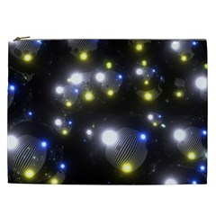 Abstract Dark Spheres Psy Trance Cosmetic Bag (xxl)