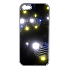 Abstract Dark Spheres Psy Trance Apple Iphone 5 Case (silver)