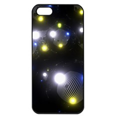Abstract Dark Spheres Psy Trance Apple Iphone 5 Seamless Case (black)