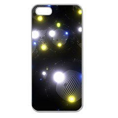 Abstract Dark Spheres Psy Trance Apple Seamless Iphone 5 Case (clear)