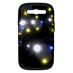Abstract Dark Spheres Psy Trance Samsung Galaxy S Iii Hardshell Case (pc+silicone)