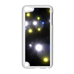 Abstract Dark Spheres Psy Trance Apple Ipod Touch 5 Case (white)